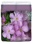 Charming Clematis Duvet Cover