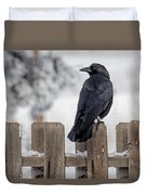 Charming Corvid Duvet Cover