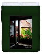 Charming Rothenburg Window Duvet Cover