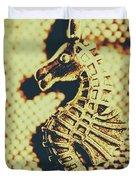 Charming Vintage Seahorse Duvet Cover