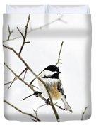 Charming Winter Chickadee Duvet Cover