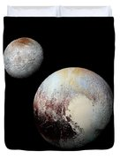 Charon And Pluto Enhanced Duvet Cover