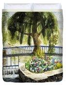 Chartres France Scene Duvet Cover