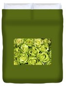 Chartreuse Colored Roses Duvet Cover