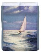 Chas Marer - Sailboat Duvet Cover by Hawaiian Legacy Archive - Printscapes