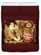 Chase And Sanborn Duvet Cover