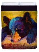 Chasing Bugs - Black Bear Cub Duvet Cover