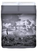 Chasing Clouds Again In Black And White  Duvet Cover