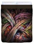 Chasing Colors - Fractal Art Duvet Cover