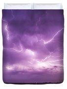 Chasing Nebraska Lightning 012 Duvet Cover