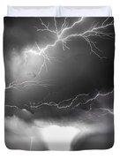 Chasing Nebraska Lightning 052 Duvet Cover