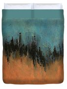 Chasing Stories Abstract Painting Duvet Cover