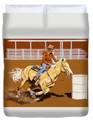 Chasing The Cans Duvet Cover