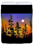 Chasing The Moon Duvet Cover