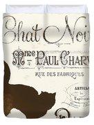 Chat Noir Paris Duvet Cover