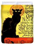 Chat Noir Vintage Duvet Cover