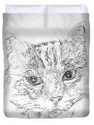Chat Somnolant Resting Cat Duvet Cover