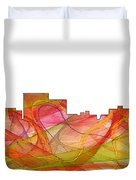 Chatanooga Tennissee Skyline Duvet Cover