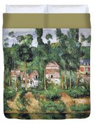 Chateau At Medan, 1880 Duvet Cover