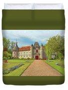 Chateau De Saint-germain-de-livet, Normandy, France Duvet Cover