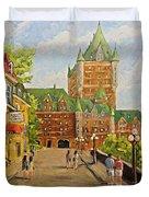 Chateau Frontenac Promenade Quebec City By Prankearts Duvet Cover