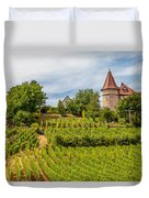 Chateau In A Vineyard Duvet Cover