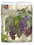 Chateau Pinot Noir Vineyards - Vintage Style Duvet Cover