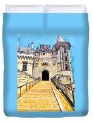Chateau Saumur, A Long Way Up Duvet Cover