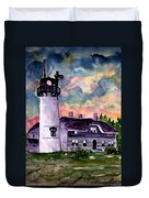 Chatham Lighthouse Martha's Vineyard Massachuestts Cape Cod Art Duvet Cover