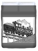 Chattanooga Choo Choo Sign In Black And White Duvet Cover