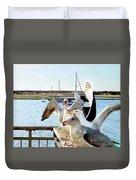 Chatty Seagull Birds Duvet Cover
