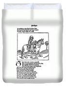 Chaucer: The Prioress Duvet Cover