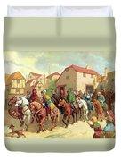 Chaucer's Pilgrims Duvet Cover by van der Syde