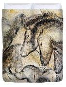 Chauvet Horses Aurochs And Rhinoceros Duvet Cover