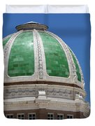 Chaves County Courthouse Green Terracotta Dome Duvet Cover