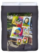 Che Guevara And Other Artwork Duvet Cover
