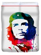 Che Guevara Watercolor 2 Duvet Cover