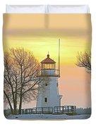 Cheboygan Harbor Light 2 Duvet Cover