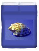 Checkered Helmet Seashell Duvet Cover
