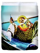 Cheech Marin In Boat Duvet Cover