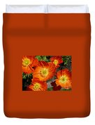 Cheerful Orange Flowers  Duvet Cover