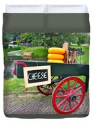 Cheese On A Wagon Duvet Cover