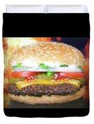 Cheeseburger Deluxe Duvet Cover