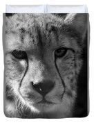 Cheetah Black And White Duvet Cover