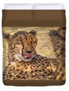 Cheetah Cattitude Duvet Cover