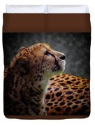 Cheetah Closeup Portrait Duvet Cover