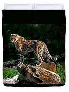 Cheetah Cub Finds Her Pride Rock Duvet Cover