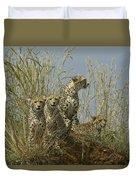 Cheetah Family Duvet Cover