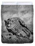Cheetah Hunting Deer  Duvet Cover