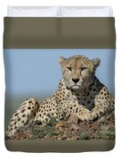 Cheetah On Mound Duvet Cover